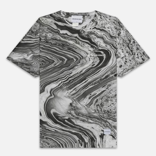 Мужская футболка MKI Miyuki-Zoku Marble Black/White