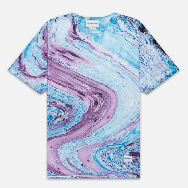 Мужская футболка MKI Miyuki-Zoku Marble Blue/Purple