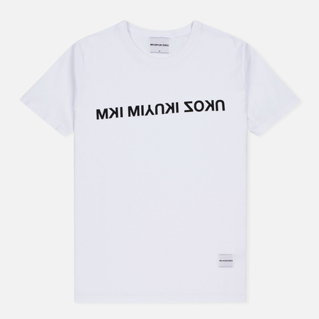 MKI Miyuki-Zoku Mix Logo Men's T-Shirt White