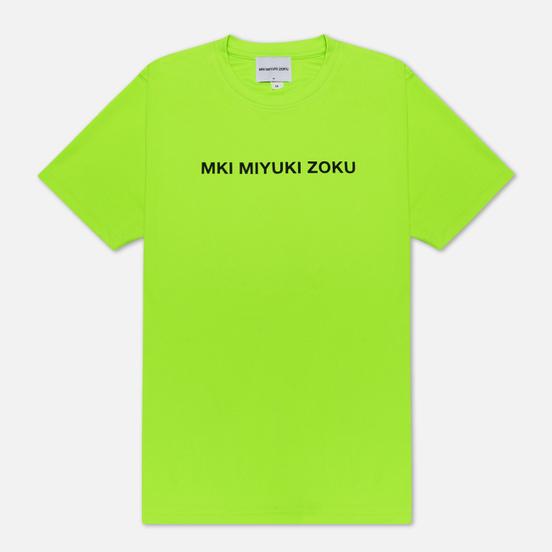 Мужская футболка MKI Miyuki-Zoku Neon Logo Flo Green