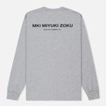 Мужской лонгслив MKI Miyuki-Zoku Spring Summer 17 Grey фото- 4