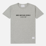 Мужская футболка MKI Miyuki-Zoku Studio Classic Logo Grey фото- 0