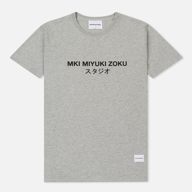 Мужская футболка MKI Miyuki-Zoku Studio Classic Logo Grey