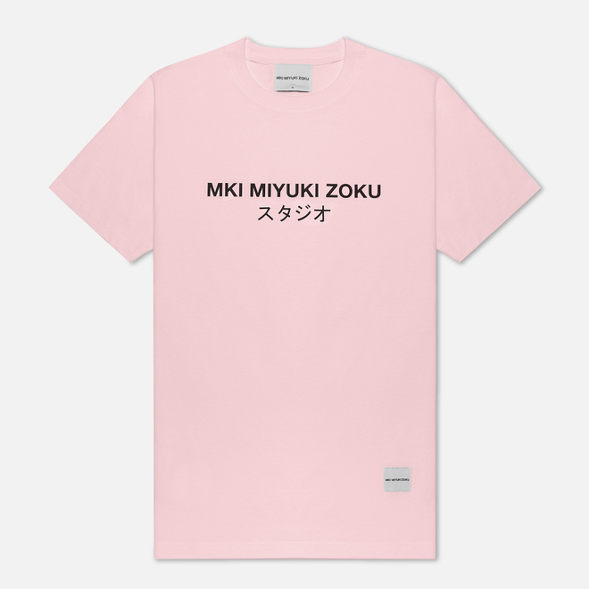 Мужская футболка MKI Miyuki-Zoku Studio Classic Logo Pink