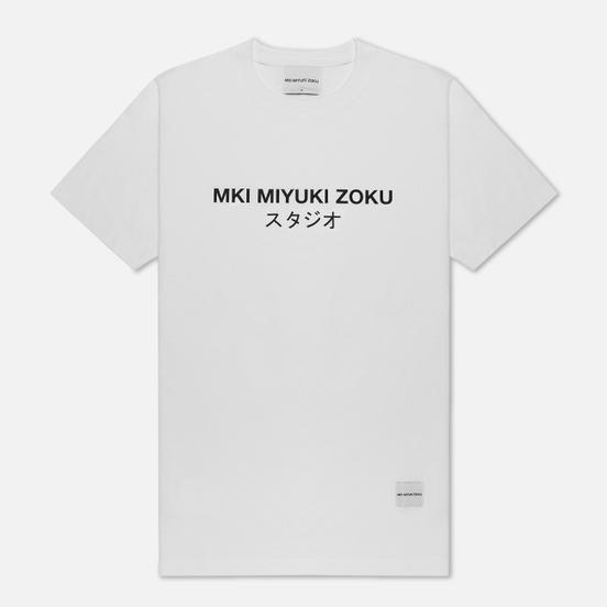 Мужская футболка MKI Miyuki-Zoku Studio Classic Logo White