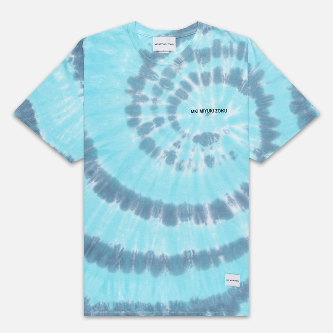 Мужская футболка MKI Miyuki-Zoku Tie Dye Aqua Shell