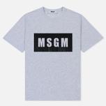 Мужская футболка MSGM Box Logo Grey/Black фото- 0