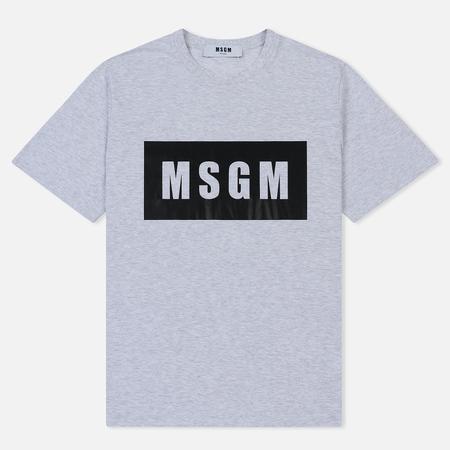 Мужская футболка MSGM Box Logo Grey/Black