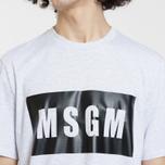 Мужская футболка MSGM Box Logo Grey/Black фото- 3