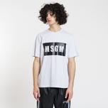 Мужская футболка MSGM Box Logo Grey/Black фото- 1