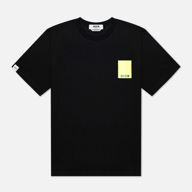 Мужская футболка MSGM Fluo Framis Logo Black