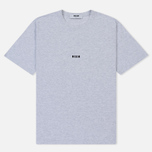 Мужская футболка MSGM Micro Logo Grey/Black фото- 0
