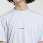 Мужская футболка MSGM Micro Logo Grey/Black фото- 3
