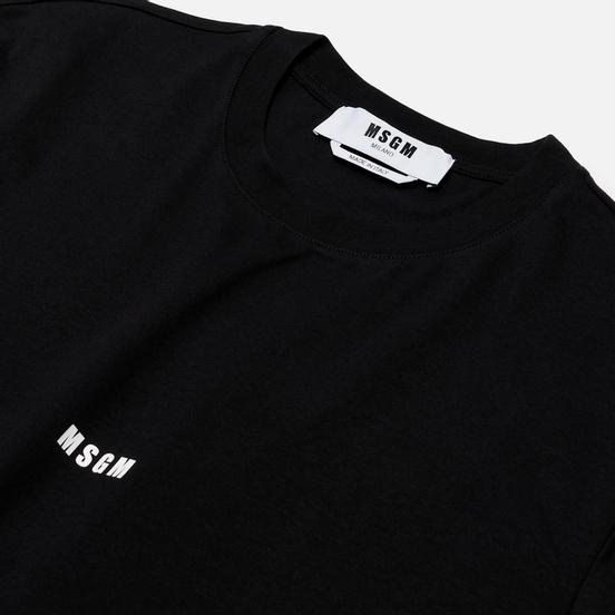 Мужская футболка MSGM Micro Logo Print MSGM Black