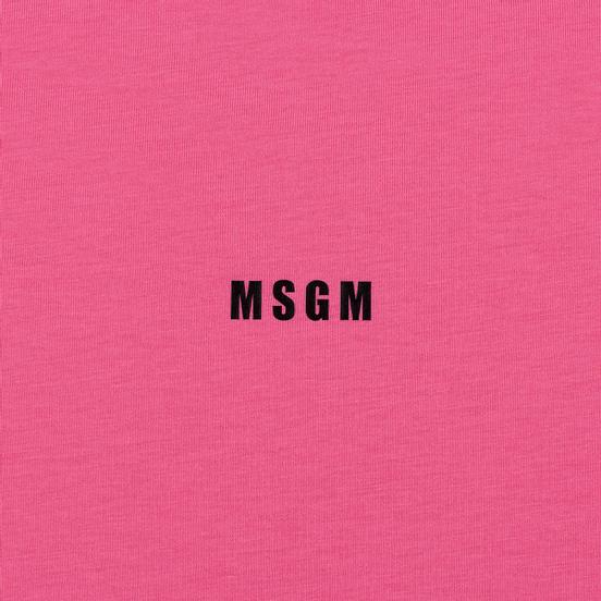 Мужская футболка MSGM Micro Logo Print MSGM Fuchsia
