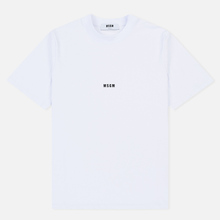 Мужская футболка MSGM Micro Logo Print MSGM White фото- 0