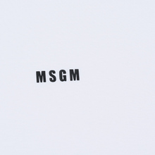 Мужская футболка MSGM Micro Logo Print MSGM White фото- 2