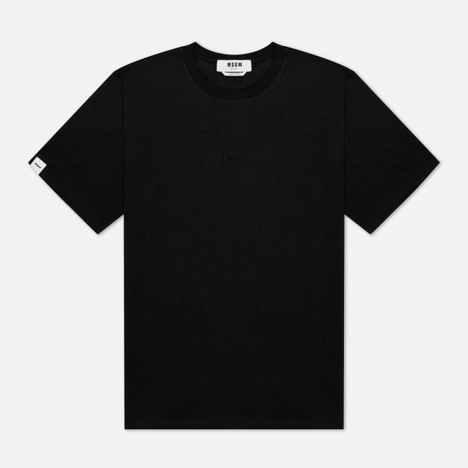 Мужская футболка MSGM Raised Logo Black