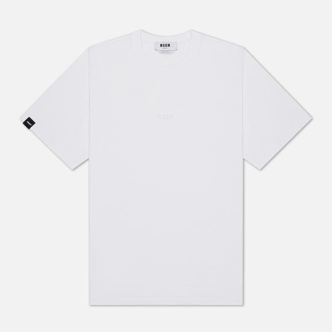Мужская футболка MSGM Raised Logo Optical White