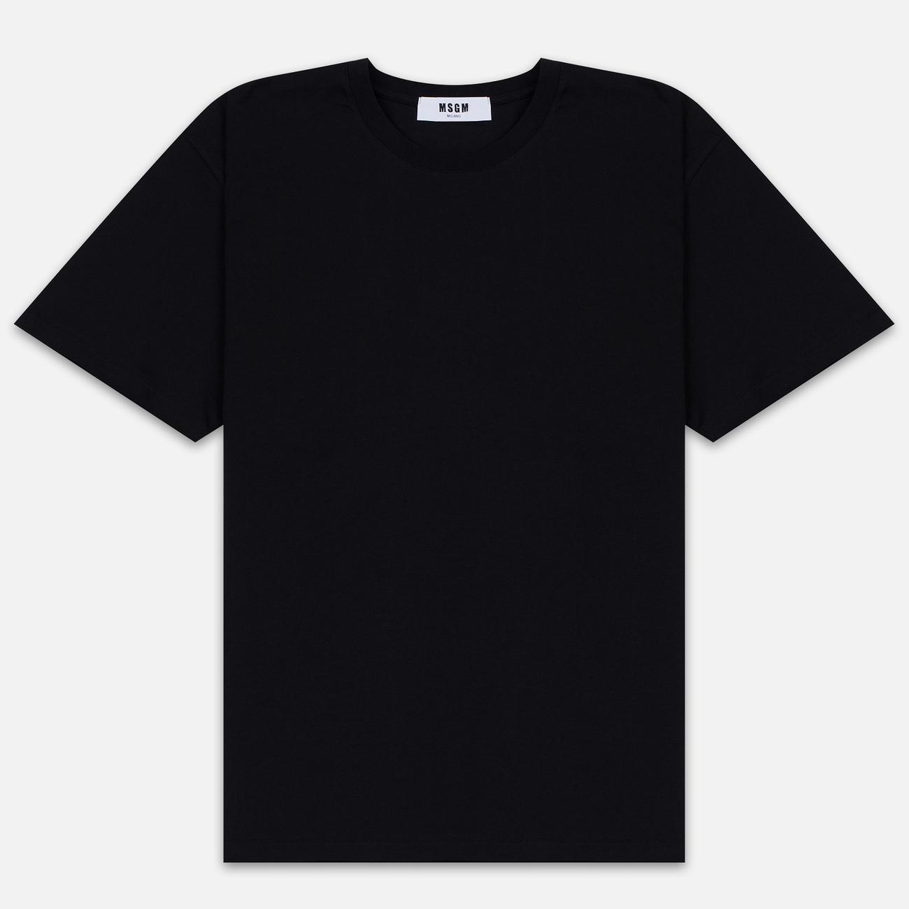 Мужская футболка MSGM Scoop Neck Back Print Black
