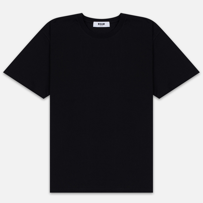 Мужская футболка MSGM Scoop Neck Back Print Black