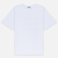 Мужская футболка MSGM Scoop Neck Back Print Optical White