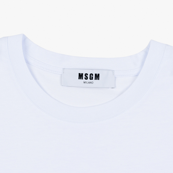 Мужская футболка MSGM Scoop Neck Back Print Optical White