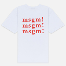 Мужская футболка MSGM Scoop Neck Back Print Optical White фото- 2
