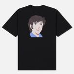 Мужская футболка MSGM Shiro And Logo Print Black фото- 1