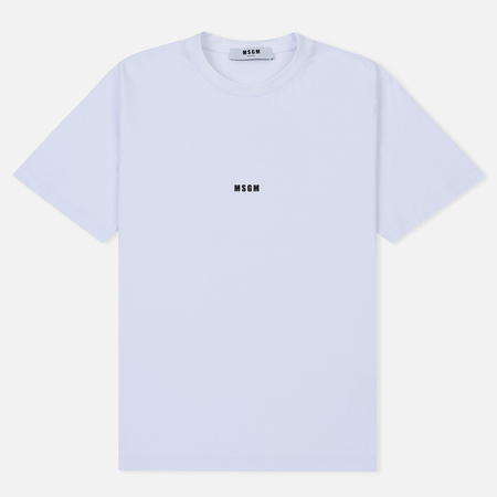 Мужская футболка MSGM Shiro And Logo Print White