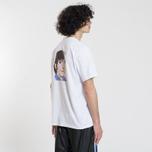 Мужская футболка MSGM Shiro And Logo Print White фото- 3