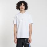 Мужская футболка MSGM Shiro And Logo Print White фото- 2