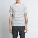 Мужская футболка Nanamica Coolmax St. Jersey Heather Grey/White фото- 3