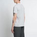 Мужская футболка Nanamica Coolmax St. Jersey Heather Grey/White фото- 4