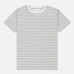 Мужская футболка Nanamica Coolmax St. Jersey Heather Grey/White фото- 0