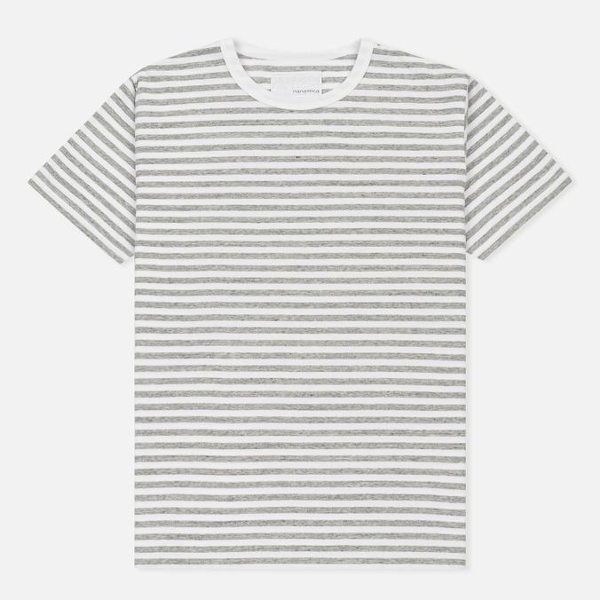 Мужская футболка Nanamica Coolmax St. Jersey Heather Grey/White