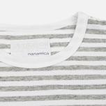 Мужская футболка Nanamica Coolmax St. Jersey Heather Grey/White фото- 1