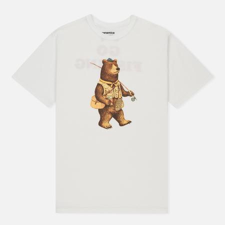 Мужская футболка Nanamica Loopwheel Coolmax Graphic Go Fishing White