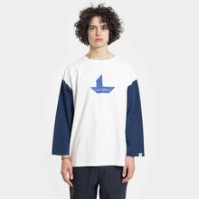 Мужская футболка Nanamica Nanamican Baseball Off White/Navy фото- 1