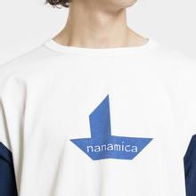Мужская футболка Nanamica Nanamican Baseball Off White/Navy фото- 2