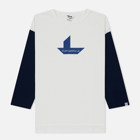 Мужская футболка Nanamica Nanamican Baseball Off White/Navy