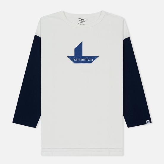Мужская футболка Nanamica Nanamican Baseball Off White/Navy