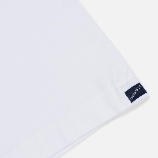 Мужская футболка Nanamica Nanamican H/S Graphic 2 White
