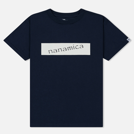 Мужская футболка Nanamica Nanamican Logo Navy
