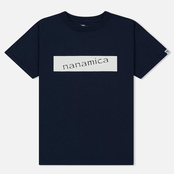 Мужская футболка Nanamica Nanamican Logo Navy