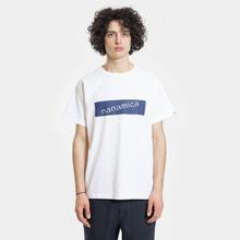 Мужская футболка Nanamica Nanamican Logo White фото- 1
