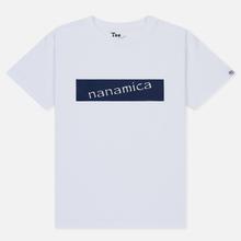 Мужская футболка Nanamica Nanamican Logo White фото- 0