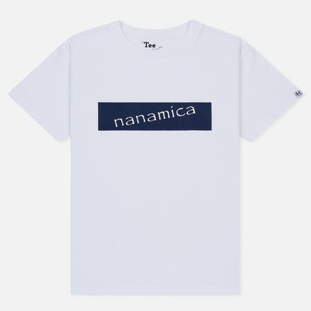 Мужская футболка Nanamica Nanamican Logo White
