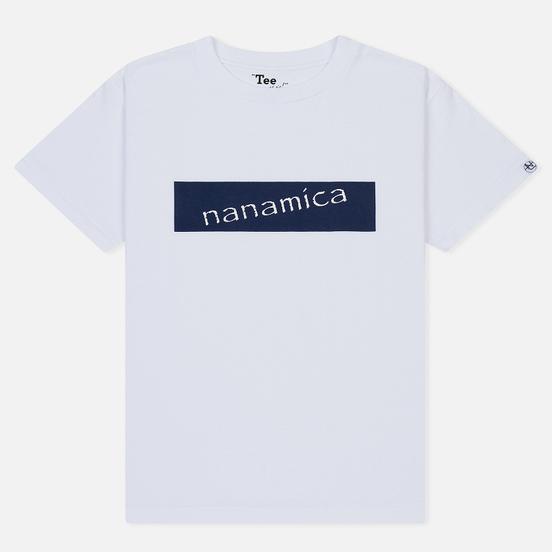 Мужская футболка Nanamica Nanamican Logo White