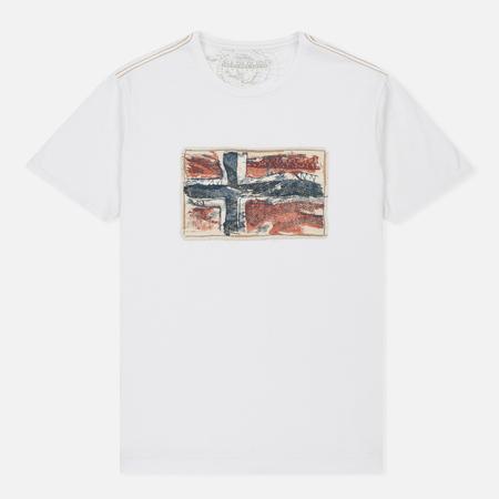 Мужская футболка Napapijri Sachs SS Bright White